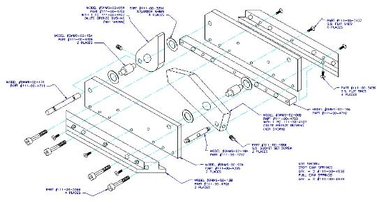 Exploded assembly drawing detailing all components for customer documentation
